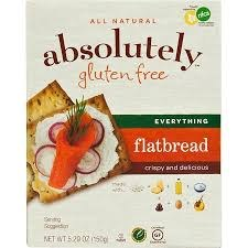 Absolutely Gluten Free Everything Flatbread, 5.29 oz.
