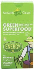 Amazing Grass Energy Lemon Lime Green SuperFood, 15 single serving packets