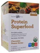 Amazing Grass Chocolate Peanut Butter Protein Superfood, 10 packets
