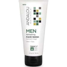 Andalou CannaCell Men Refreshing Face Wash, 6 oz.