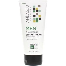 Andalou CannaCell Men Smooth Glide Shave Cream, 6 oz.