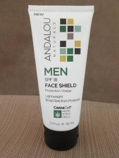 Andalou CannaCell SPF 18 Men Face Shield, 3.1 oz.