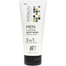 Andalou CannaCell Invigorating Men Body Wash, 8.5 oz.
