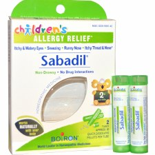 Boiron Sabadil Children's Allergy Relief, 2 tubes of 80 pellets each