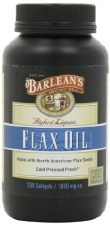 Barlean's High Lignan Flax Oil, 1000mg, 250 soft gels