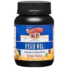 Barlean's Omega-3 EPA/DHA Fish Oil, 100 soft gels