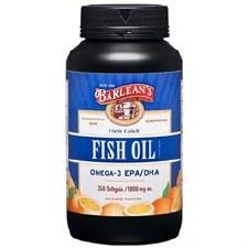 Barlean's Omega-3 EPA/DHA Fish Oil, 250 capsules