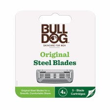 Bull Dog Original Steel Blades, 4 pack