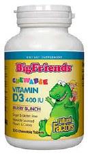 Natural Factors Big Friends 400 IU Vitamin D3, 250 count