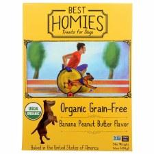 Best Homies Organic Grain-Free Banana Peanut Butter Dog Treats, 16 oz.