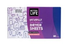 Better Life Lavender & Grapefruit Scented Dryer Sheets, 80 sheets
