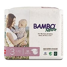 Bambo Nature Size 3 Eco-Friendly Diapers, 33 diapers