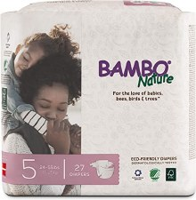 Bambo Nature Size 5 Eco-Friendly Diapers, 27 diapers