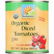 Bionaturae Organic Diced Tomatoes No Salt Added, 28.2 oz.