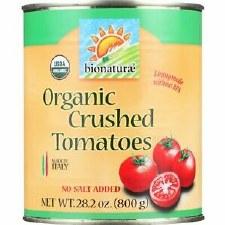 Bionaturae Organic Crushed Tomatoes No Salt Added, 28.2 oz.