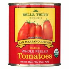 Bella Terra San Marzano Region Italian Whole Peeled Tomatoes, 28 oz.