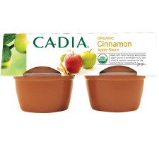 Cadia Organic Cinnamon Applesauce, 4 pack of 4 oz. single servings