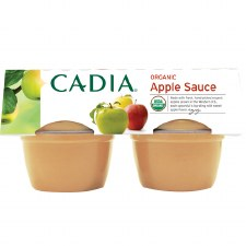 Cadia Organic Applesauce, 4 pack of 4 oz. single servings