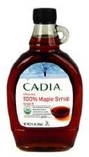 Cadia Organic Grade A Amber Color Maple Syrup, 12 fl oz.