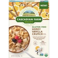 Cascadian Farms Organic Honey Vanilla Cereal, 10.5 oz.