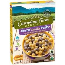 Cascadian Farms Gluten Free Organic Berry Vanilla Cereal, 10.25 oz.