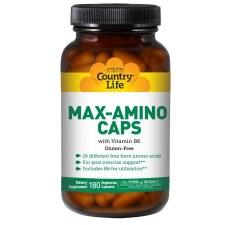 Country Life Max-Amino Caps with Vitamin B6, 180 vegetarian capsules