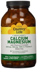 Country Life Target Mins Calcium Magnesium, 240 vegetarian capsules