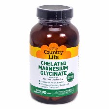 Country Life Chelated Magnesium 400mg, 90 tablets