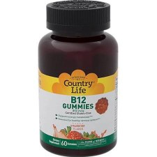 Country Life Strawberry Flavored B12 Gummies 850 mcg, 60 gummies