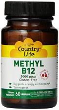 Country Life Methyl B12, 60 lozenges