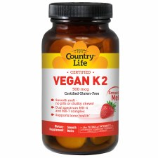 Country Life Vegan K2, 60 smooth melts