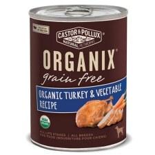 Castor & Pollux Organix Grain Free Organic Turkey & Vegetable Recipe, 12.7 oz.