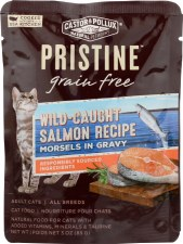 Castor & Pollux Grain Free Wild Caught Salmon Recipe Morsels in Gravy, 3 oz.