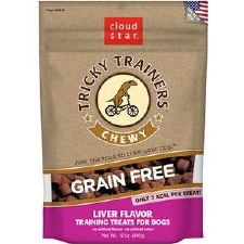 Cloud Star Tricky Trainers Gluten Free Liver Flavored Dog Chews, 12 oz.
