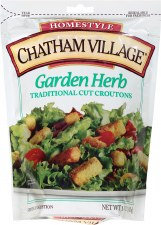 Chatham Village Garden Herb Traditional Cut Baked Croutons, 5 oz.