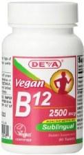 DEVA Vegan Sublingual B12, 90 tablets