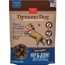 Cloud Star Dynamo Dog Hip & Joint Bacon & Cheese Dog Treats, 5 oz.