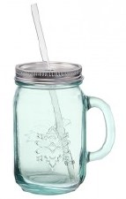 Down to Earth Glass Jar, 18 oz.