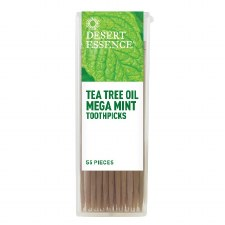 Desert Essence Tea Tree Oil Mega Mint Toothpicks, 55 pieces