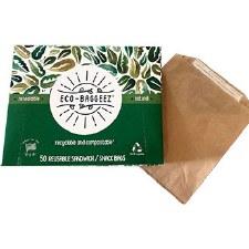 Eco-Baggeez Reusable Sandwich/Snack Bags, 50 bags