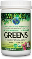 Whole Earth & Sea Fermented Organic Greens Tropical, 7.7 oz.