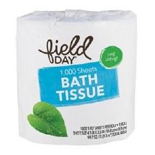 Field Day Organic 1 Ply Bath Tissue, 1000 sheets