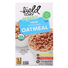 Field Day Organic Instant Variety Pack Oatmeal, 8 packs