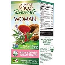Fungi Perfecti Host Defense Myco Botanicals Woman Breast-Shield, 60 vegetarian capsules