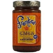 Frontera Hot Roasted Habanero, Cilantro + Key Lime Gourmet Mexican Salsa, 16 oz.