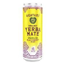 Guayaki Sparkling Blackberry Mint Yerba Mate, 12 fl oz.