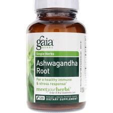 Gaia Herbs Ashwaganda Root, 120 vegetarian capsules