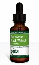 Gaia Herbs Wormwood Black Walnut Supreme, Liquid Herbal Extract, 1 oz.