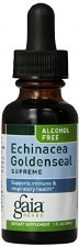 Gaia Herbs Alcohol Free Echinacea Goldenseal Supreme Liquid Herbal Extract, 1 oz.