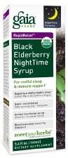 Gaia Herbs Black Elderberry Night Time Syrup, 5.4 oz.